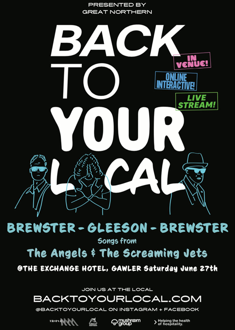 Brewster – Gleeson – Brewster – Back To Your Local – Special Streaming Show – Sat 27th Jun