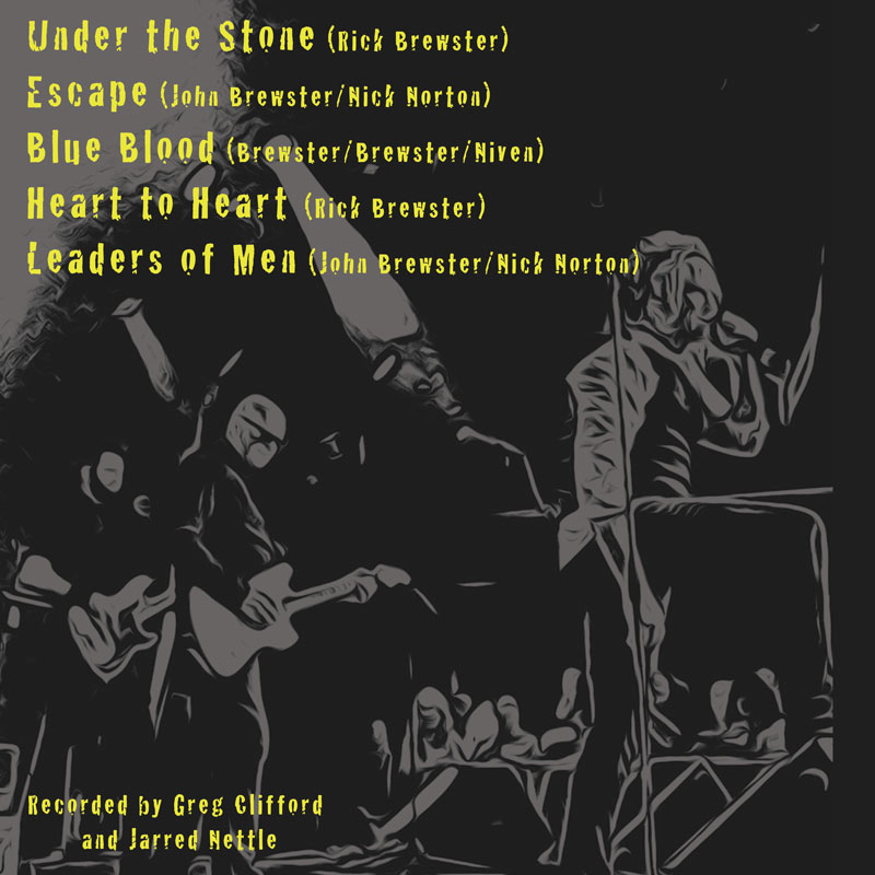 The Angels - Under The Stone - EP - Rear Cover