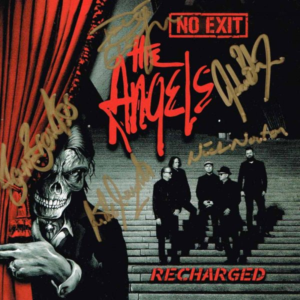 The Angels – No Exit – Recharged – 2 CD Set – Front Cover - Signed By The Band