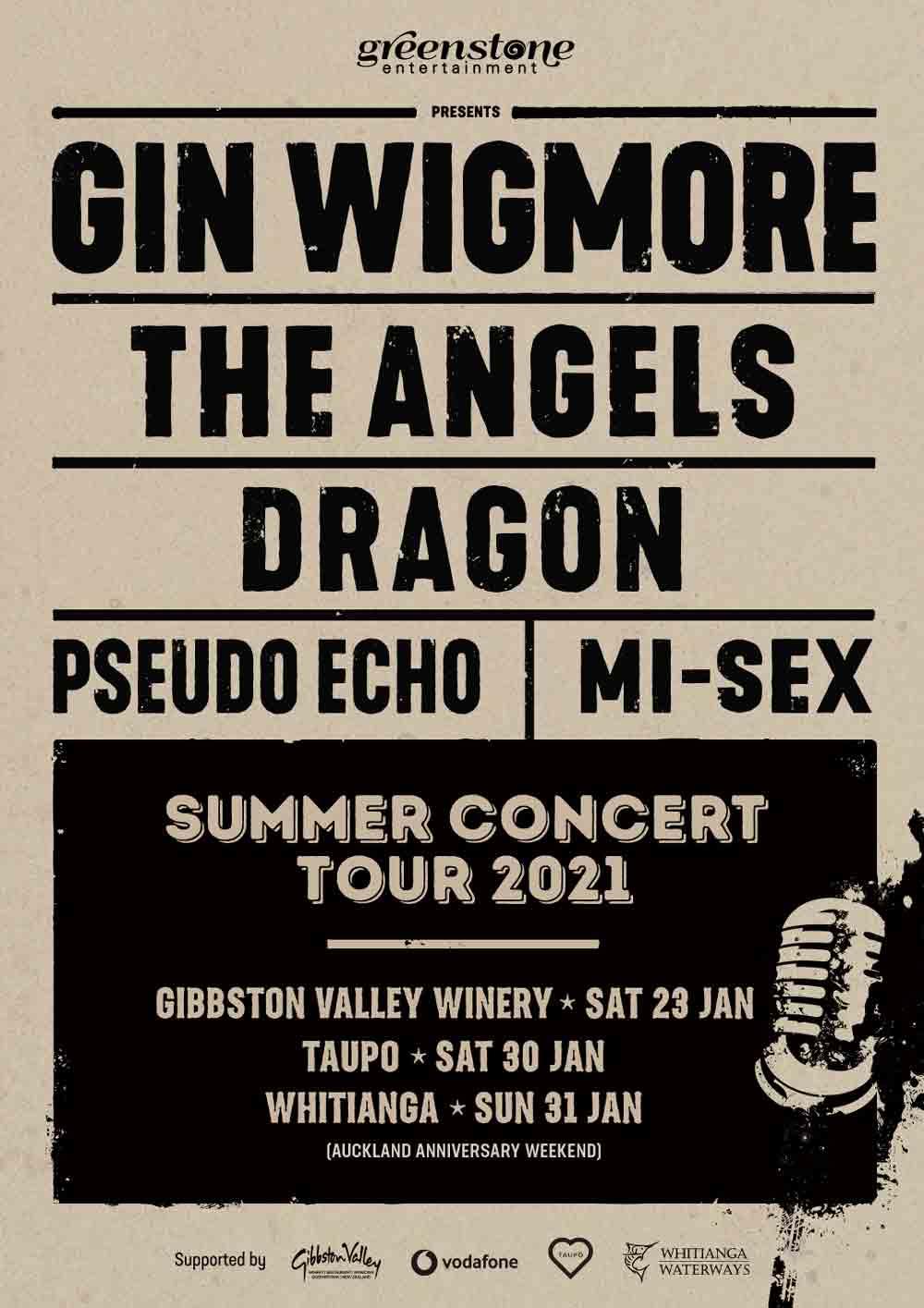 Greenstone Summer Concert Tour – NZ – All Ages