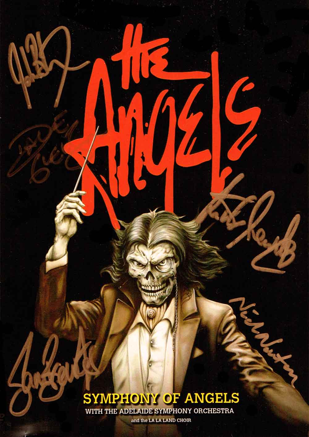 The Angels – Symphony Of Angels – DVD – Front Cover – Signed