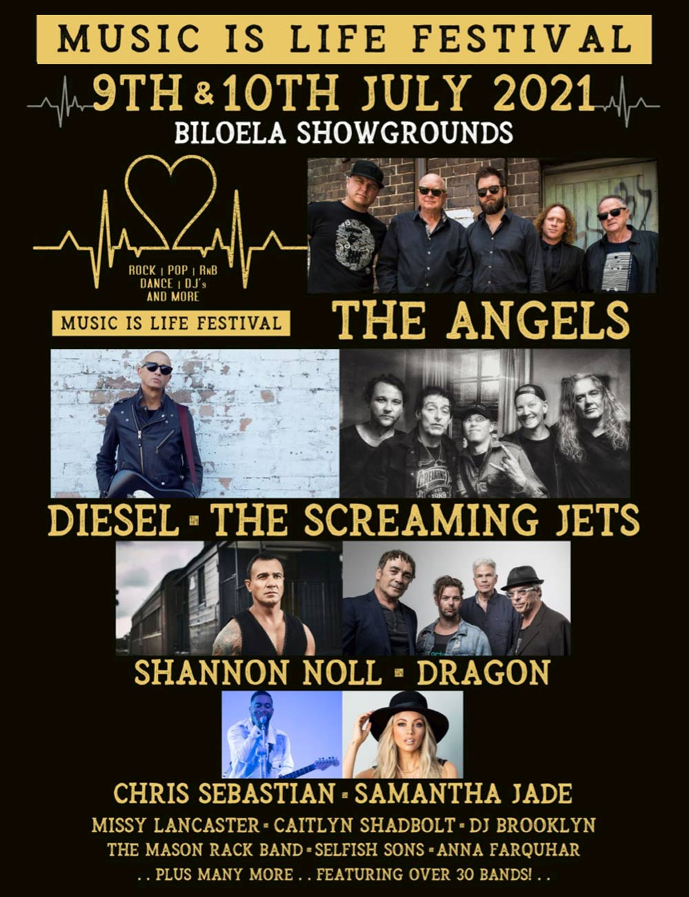 'Music Is Life' Festival – Angels To Headline Two Day Event
